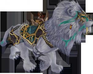 Reittier Weisser Löwe